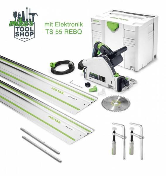 Festool Tauchsäge TS 55 REBQ-Plus-FS CAMP SET (Schiene, Zwinge, Verbinder) - NO: 575961