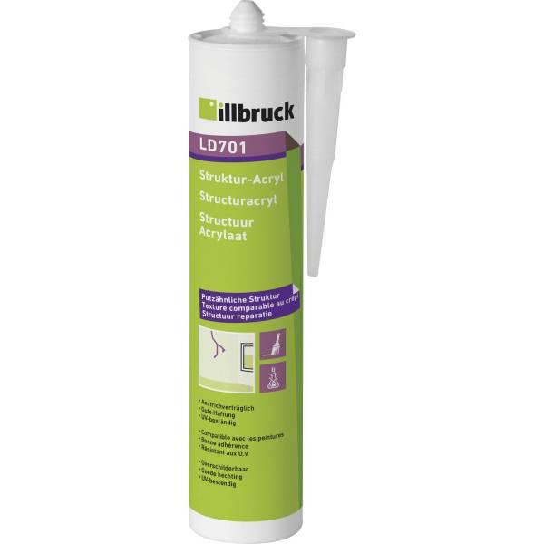 illbruck Struktur-Acryl LD701 10% 310ml, weiß