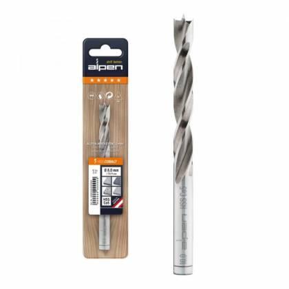 1 St/ück,63300008100 ALPEN Holzspiralbohrer Kassette PCTM 8 HSS Cobalt Bohrer 8-teilig Durchmesser 3-8 mm