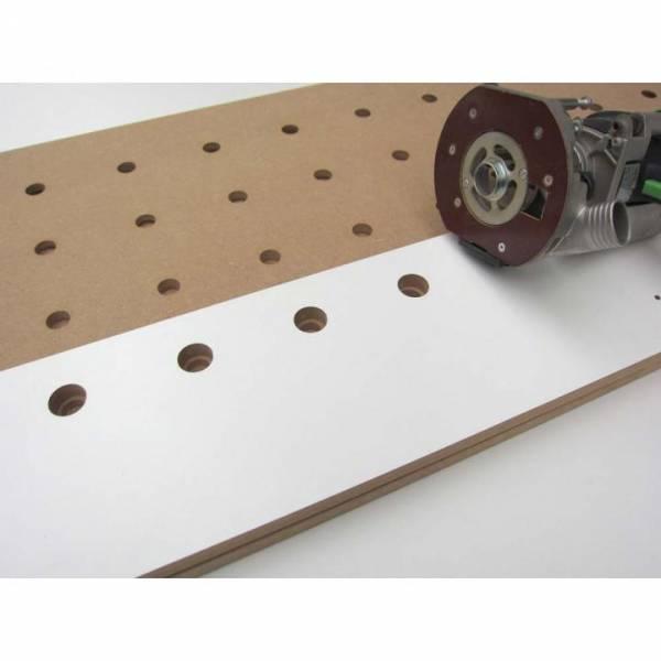 Wood-Special Frässchablone für MFT Lochplatten / Lochraster 96x96mm mit 20mm