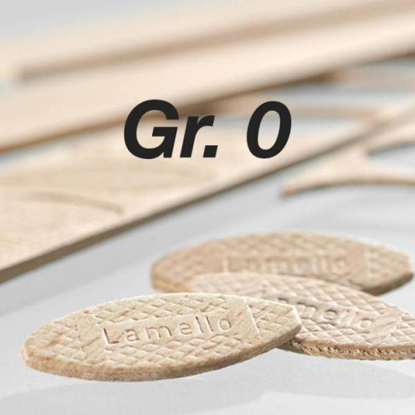 Orig. Lamello-Verbindungsplättchen (Fischerl) Nr. 0 - 1000 Stück