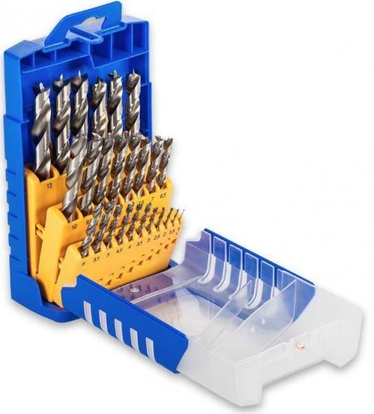 FISCH® HSS-G Holzspiralbohrer-Set 25-tlg. 1-13mm - 013G0025K01