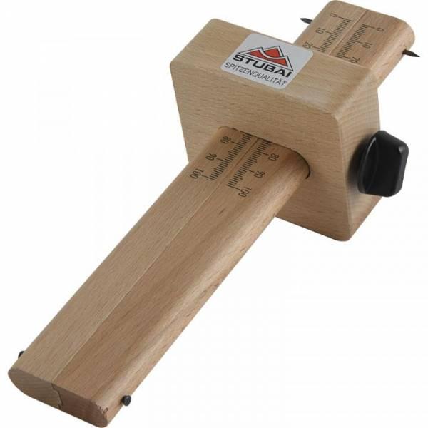 STUBAI Holz-Streichmaß doppelt, Skala 0-100 mm - Länge 220 mm