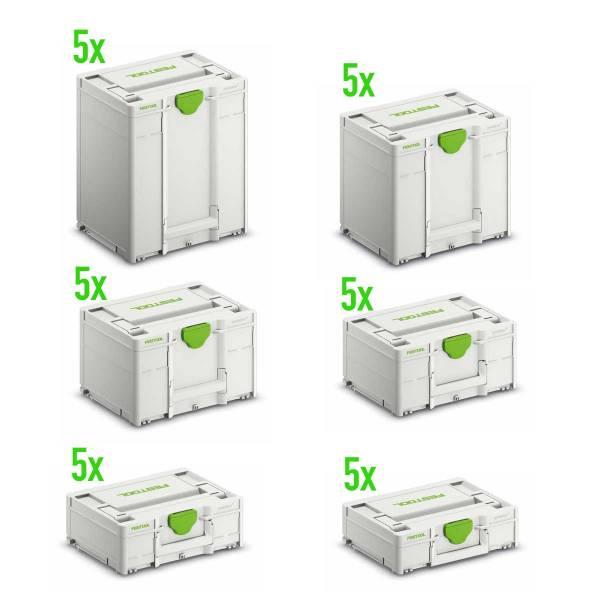 Festool GROSSMENGE Systainer³ SYS3 M (je 5 von Höhe 112/137/187/237/337/437mm)