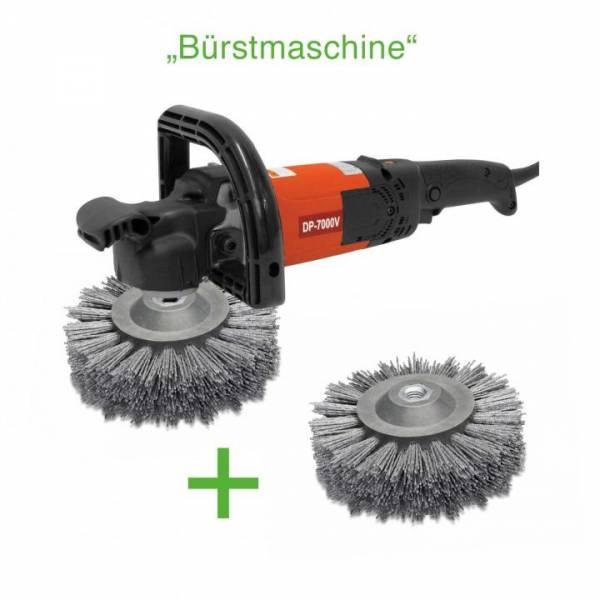 "KEYANG ""Bürstmaschine"" mit 2 Stück Rundbürsten Korn 80 - 1200W - ""REGELBAR"" 800-2400 U/min - DP7000V"