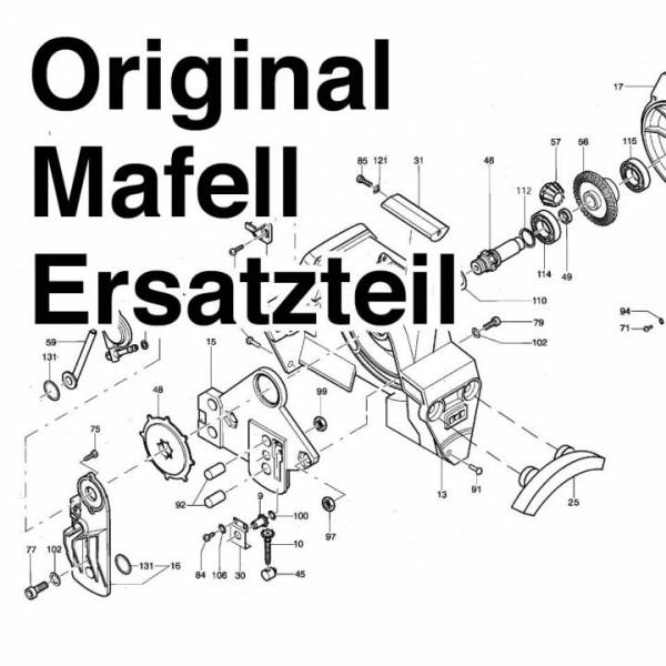 Mafell Ersatzteile Zug-Druck-Kabel, kurz - No: 203742