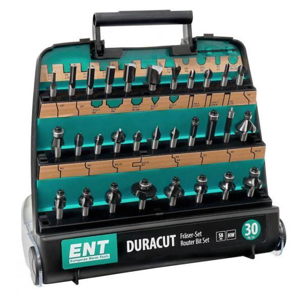 ENT DURACUT Fräserset® - 30 Teilig in Kunststoff-Box / 8mm Schaft - 09030