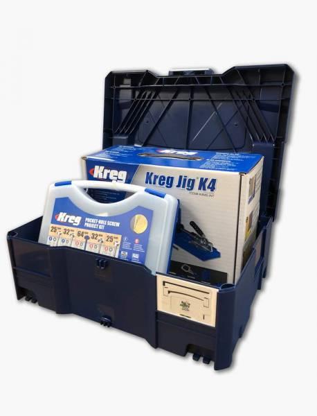 Mikes Choice KREG® Pockethole Jig K4MS + SK03 Schraubensortiment im Systainer