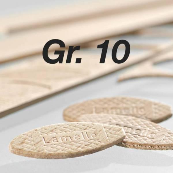 Orig. Lamello-Verbindungsplättchen (Fischerl) Nr. 10 - 1000 Stück