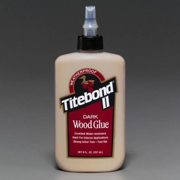 Titebond® II DARK Wood Glue 8Oz (entspricht 237ml) - Holzleim für dunkles Holz - WETTERRESISTENT