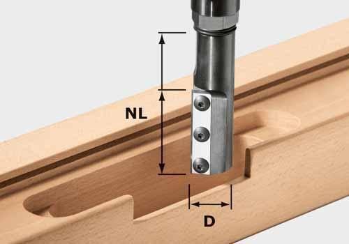 Festool Nutfräser-Wendeplatten HW KN D24/50 WP/K - NO: 497456