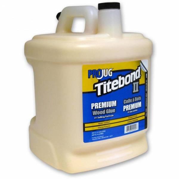 Titebond® II Premium Wood Glue PROJUG 2,15 Gallonen (entspricht 8140ml) - WETTERRESISTENT - Holzleim