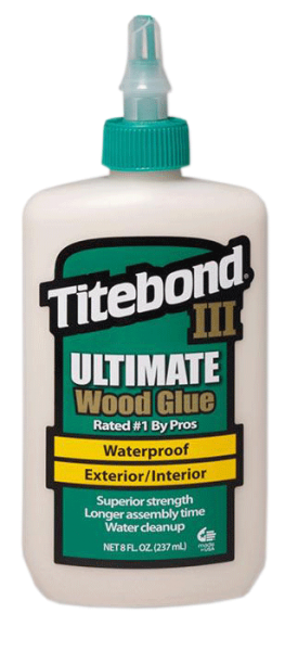 Titebond® III Ultimate Wood Glue 8Oz (entspricht 237ml) - WASSERFEST - Holzleim