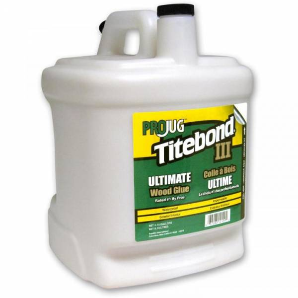 Titebond® III Ultimate Wood Glue PROJUG 2,15 Gallonen (entspricht 8140ml) - WASSERFEST - Holzleim