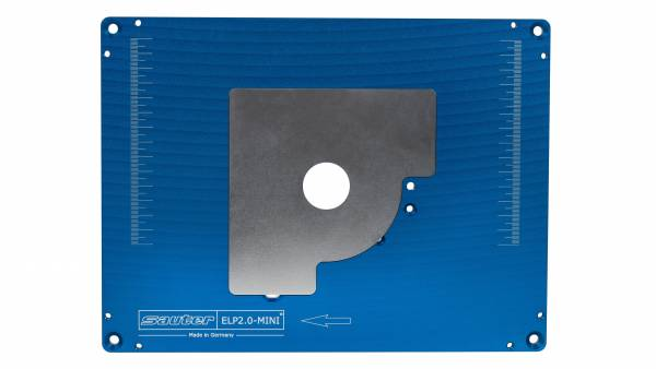 SAUTER Aluminium Einlegeplatte für Festool Oberfräse OF 1010 - ELP2.0-MINI, vorgebohrt