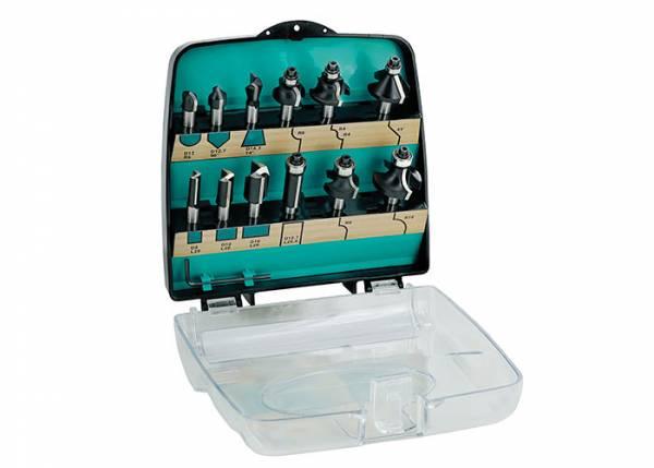 ENT® DURACUT Fräserset - 12 Teilig in Kunststoff-Box / 8mm Schaft - 09012