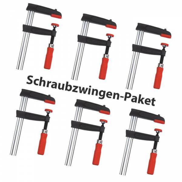 Aktion: Bessey Temperguss-Schraubzwingen-Set 60 / 80 / 125cm - 6 Teilig