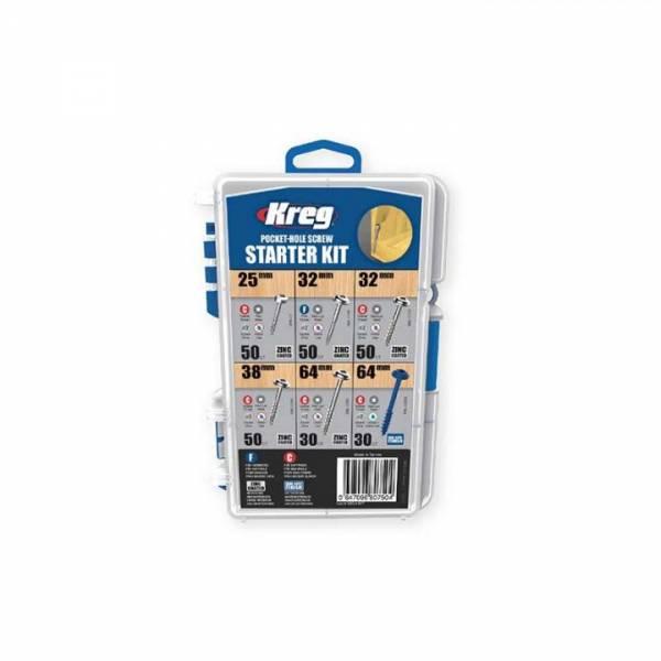 KREG® Taschenlochschrauben 260-tlg Satz - verzinkt & gebläut - SK04-INT