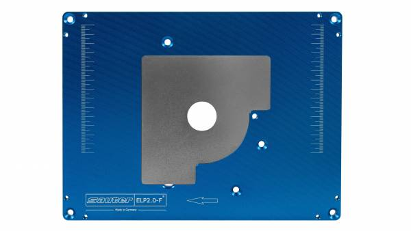 SAUTER Aluminium Einlegeplatte für Festool Oberfräse OF 1400 und OF 2200 - ELP2.0-F, vorgebohrt