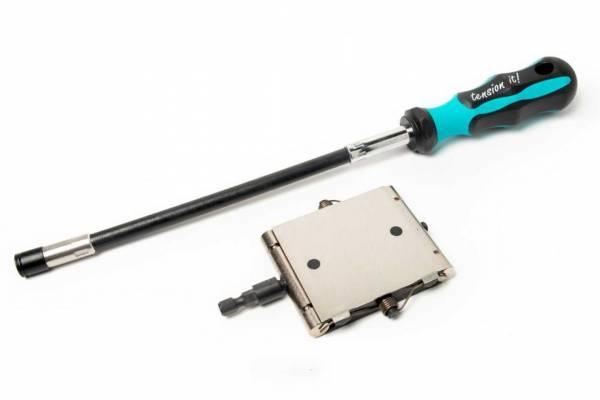 Tension Tool TT2 + Schraubendreher mit flexibler Welle - Spannbereich 12-26mm für Montage
